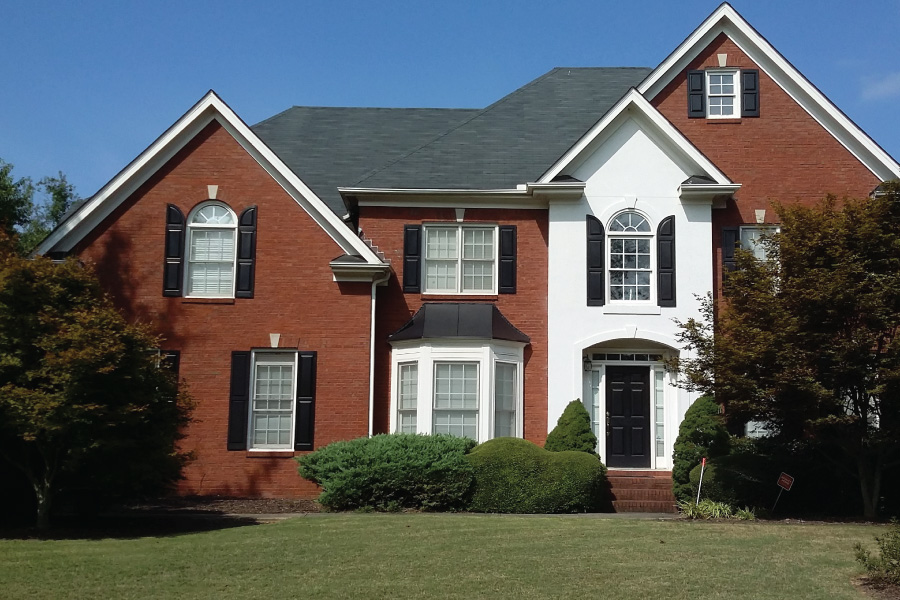 Painted brick no guts no glory patsy overton interiors - Paint exterior brick before after collection ...